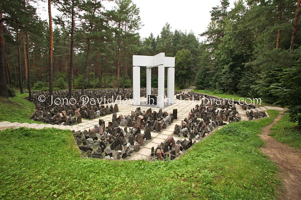 LATVIA, Riga. Bikernieki Memorial, site of Latvia's biggest Holocaust mass murder (8.2011)