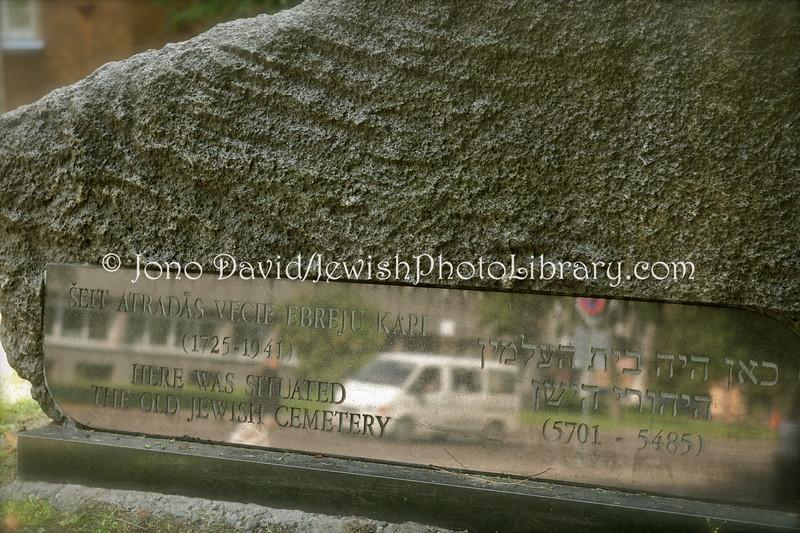 LV 781  Memorial stone, old cemetery