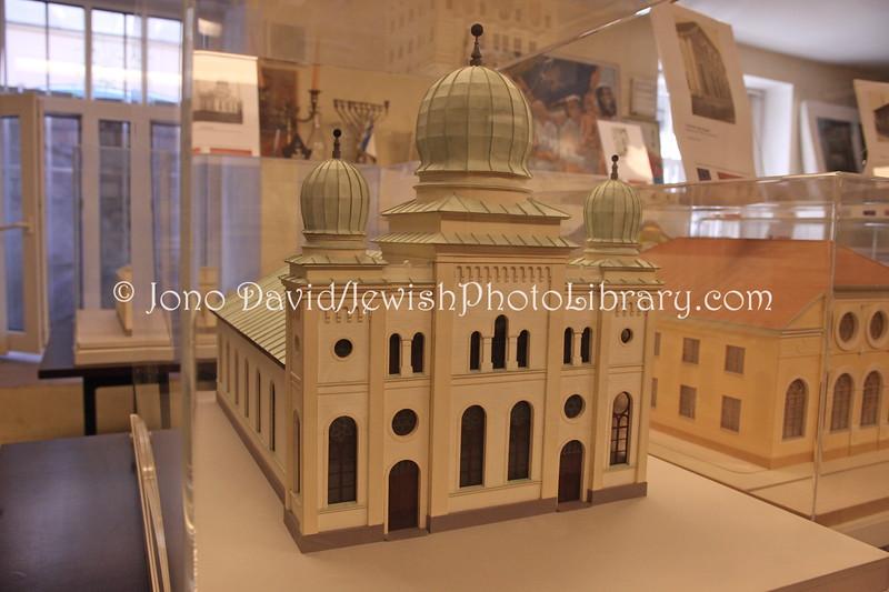 LV 372  Model of Liela Synagogue on Petera iela 11, LIEPAJA