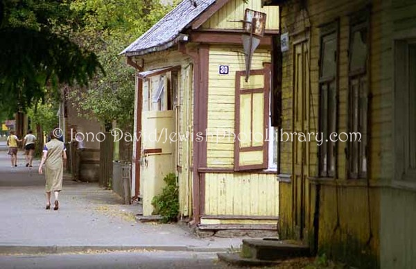 LITHUANIA, Kaunas. Vilijampole District (former Jewish ghetto). (1997)
