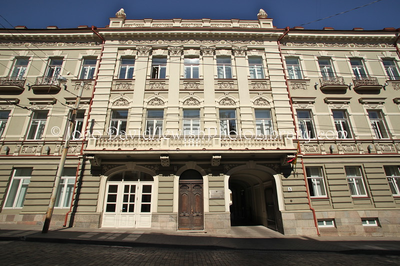 LT 2510  Home of Israel Bunimovich, banker and philanthropist (also used by Jewish agencies in 1920s and 1930s) (Basanaviciaus 5)