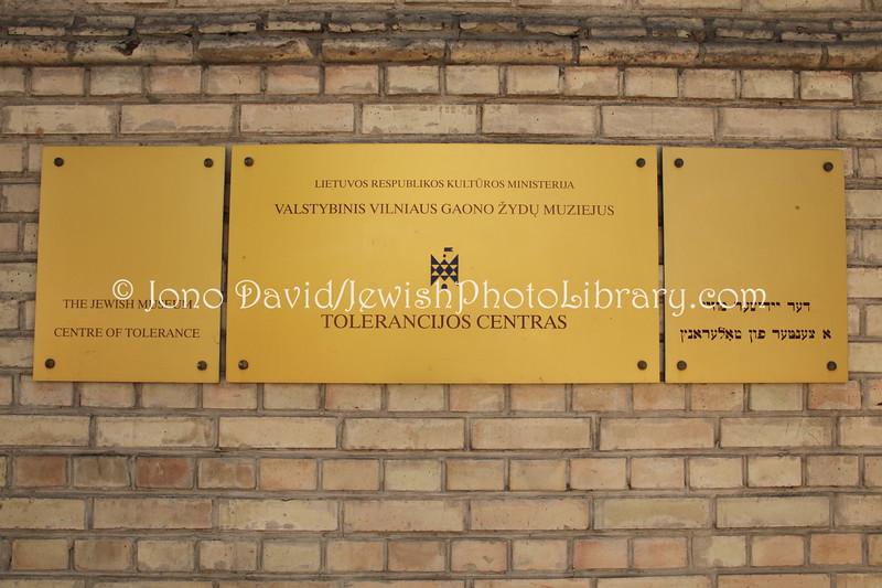 LT 2525  Tolerance Museum, Vilna Gaon Jewish State Museum (Naugarduko Street 10:2)