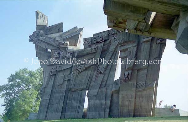 LITHUANIA, Kaunas. Monument to the Victims of Fascism (at IX Fortas). (1997)