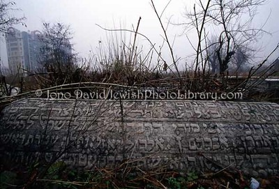BULGARIA, Plovdiv. Jewish sector, Plovdiv General Cemetery. (2004)