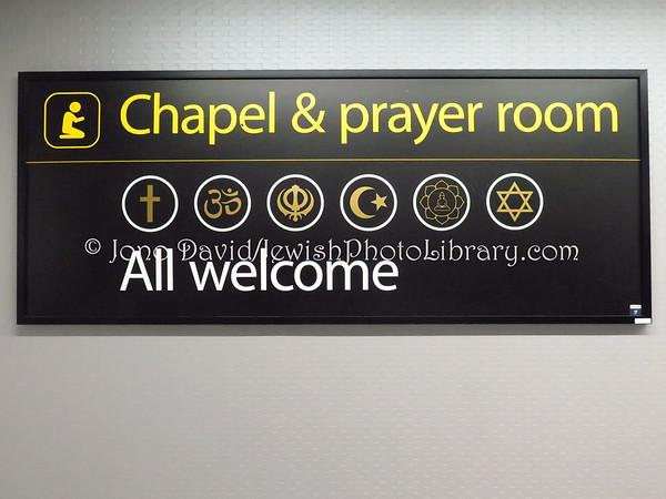 ENGLAND, London. Chapel & Prayer Room, South Terminal, Gatwick Airport