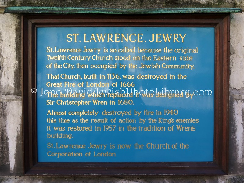 UK 1692  Sign, St  Lawrence Jewry