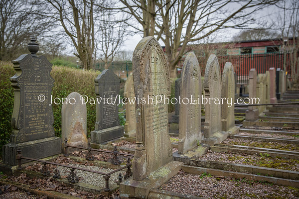 ENGLAND, Stoke-on-Trent. Cemetery, Stoke-on-Trent & North Staffordshire Hebrew Congregation (3.2016)