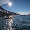 Kayaking off Angmagssalik Island, Greenland