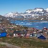 Tasiilaq over looking King Oscar's Fjord