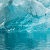 Turquoise-colored  old iceberg