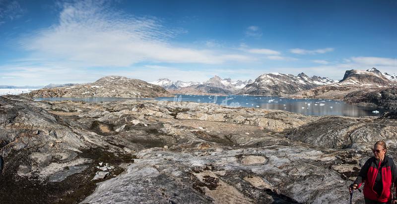 Panorama of Sarpaq Island looking towards Tinit