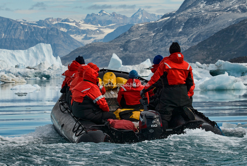 Heading back to Base Camp from the Sermilik Fjord