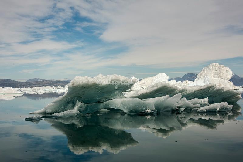 Reflections of a melting iceberg, Sermilik Fjord
