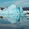 Reflections of a turquoise iceberg, Sermilik Fjord
