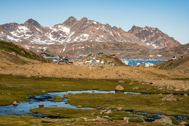 Tasiilaq as seen from the Valley of Flowers