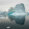 Iceberg and its mirror image, Sermilik Fjord