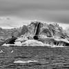 Black and White image of an iceberg, Sermilik Fjord