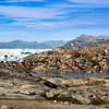 Tinit and Sermilik Fjord seen from Sarpaq Island