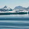 Ripples disturb the waters of  Sermilik Fjord