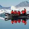 Mirror image of Zodiac in Arctic waters