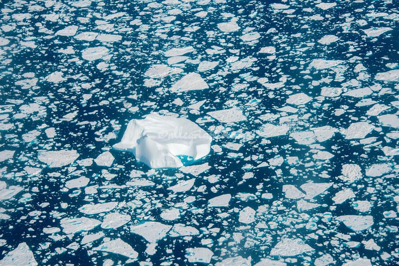 Giant iceberg in the North Atlantic