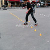 Roller Blading on  the streets of Paris