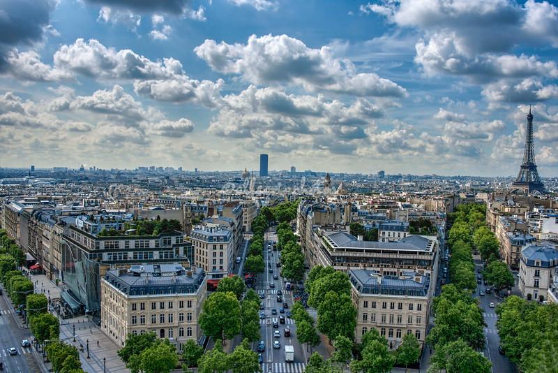 View over Paris from Arc de Triomphe