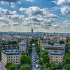 View over Paris from Arc de Triomphe