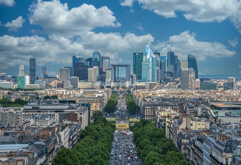 View along the Boulevard Des Armees, Paris France