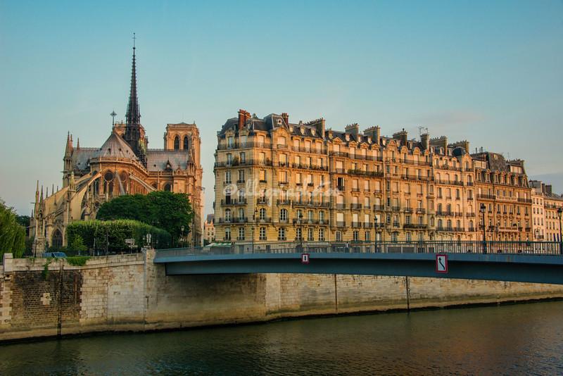 Sunrise over Ile de la Cite and Notre Dame, Paris (prior to fire in 2019)