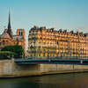 Sunrise over Ile de la Cite and Notre Dame, Paris (prior to fire in 2019)