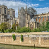 Reconstruction of the Notre dame following the fire in 2019,