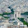 Aerial View, L'Arc de Triomphe, Paris
