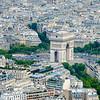 Aerial View, L'Arc de Triomphe, Paris