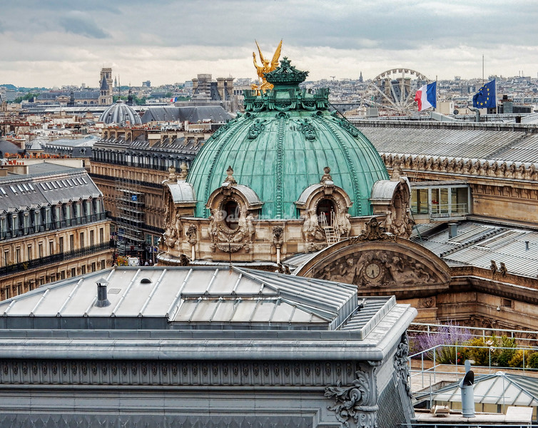 Looking over the rooftops of Paris towards the Opera Garnier