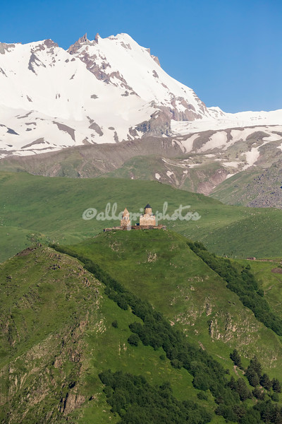 Gergeti Monastery at base of Mt. Kazbek