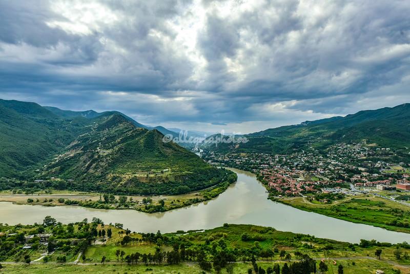 View of Mtskheta from Jvari Monastery