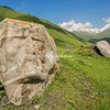 Face in the rock in Sno Valley, Kazbegi