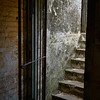 Inside view of steps going into a fort, Gibraltar, British Overseas Territory, Iberian Peninsula
