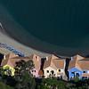 Elevated view of buildings on the coast, Gibraltar, British Overseas Territory, Iberian Peninsula