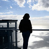 Tourist at an observation point, Gibraltar, British Overseas Territory, Iberian Peninsula