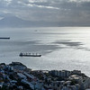 Elevated view of city on the coast, Gibraltar, British Overseas Territory, Iberian Peninsula