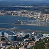 Elevated view of city on the coast, Gibraltar, British Overseas Territory, Iberian Peninsula