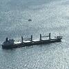Barge out at sea, Gibraltar, British Overseas Territory, Iberian Peninsula