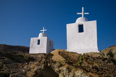 Chapels Near Agios Nikolaos Beach, Folegandros