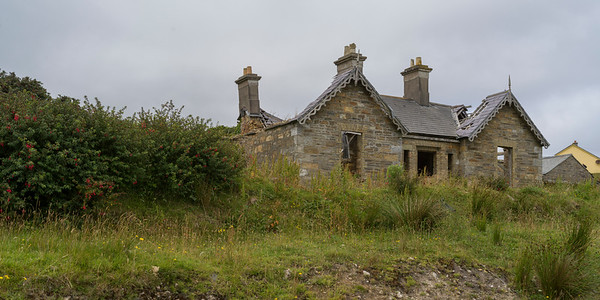 View of an abandoned building, Glenamoy, County Mayo, Ireland