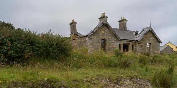 View of an abandoned building, Glenamoy, County Mayo, Ireland