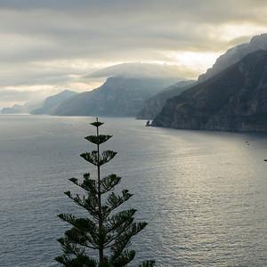 View of coastline, Amalfi Coast, Salerno, Campania, Italy