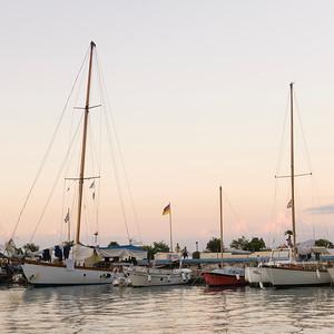 Boats in a harbor, Ischia Island, Italy