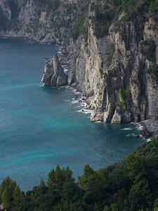 Elevated view of coast, Amalfi Coast, Salerno, Campania, Italy